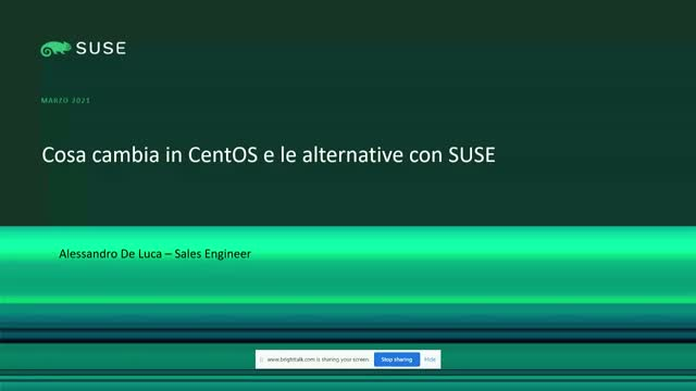 Cosa cambia in CentOS e le alternative con SUSE