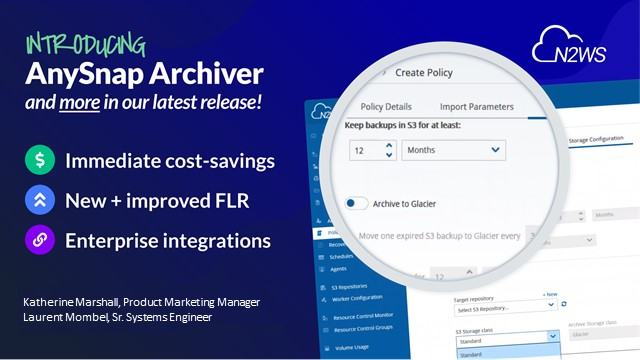 NEW RELEASE: N2WS Backup & Recovery now with AnySnap Archiver! [EMEA]