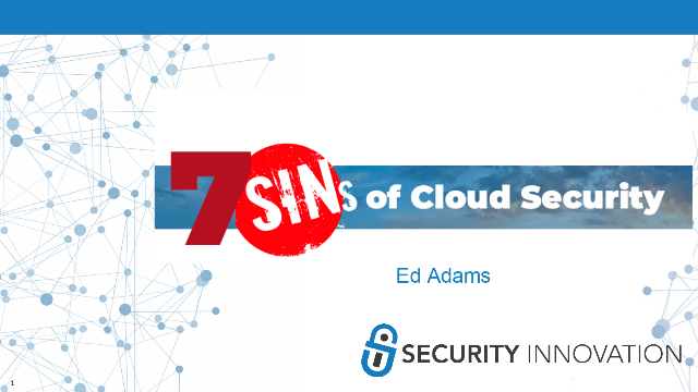 7 Sins of Cloud Security