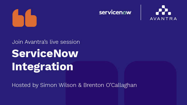Avantra & ServiceNow: Partnership and Integration