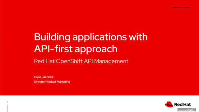Building API-first applications