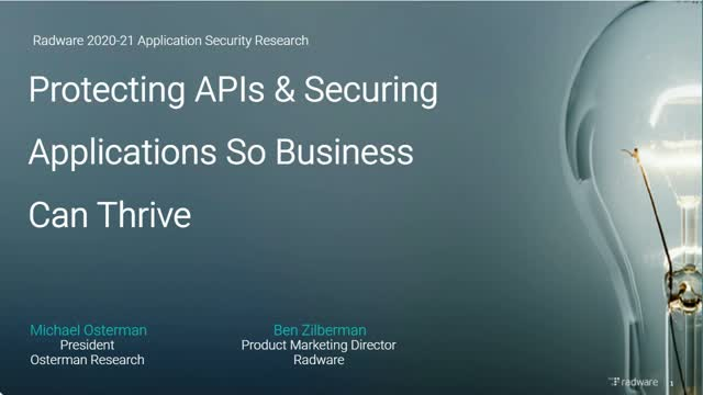 Protect Your Applications and Secure Your APIs So Your Business Can Thrive