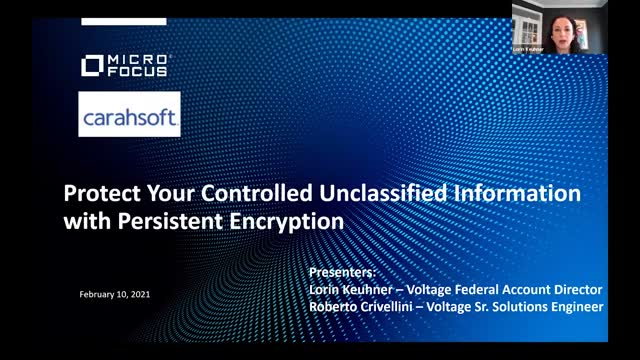 Protect Your Controlled Unclassified Information with Persistent Encryption