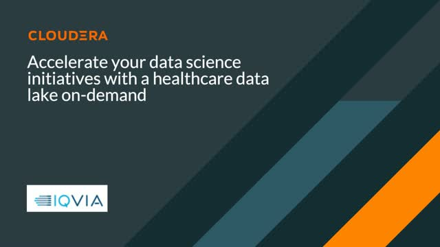 Accelerate your data science initiatives with a healthcare data lake on-demand