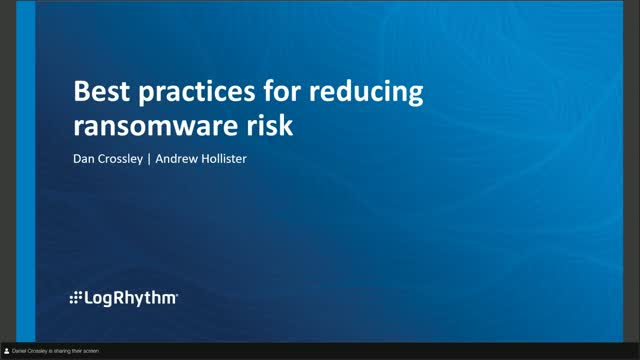 [EMEA] Best Practices For Reducing Ransomware Risk