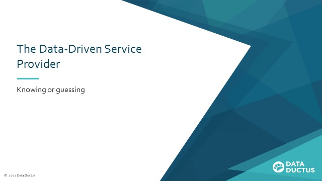 Data-driven Decision Making for Service Providers