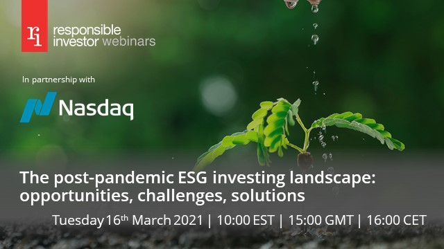 The post-pandemic ESG investing landscape: opportunities, challenges, solutions