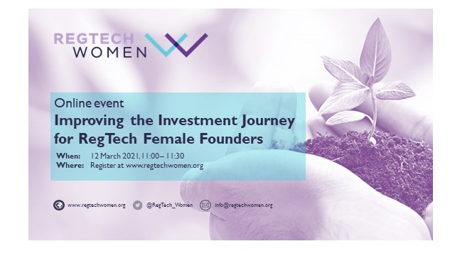 Improving the Investment Journey for RegTech Female Founders