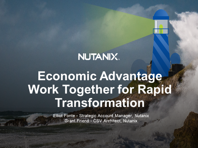 Economic Avantage - Work together for Rapid Transformation