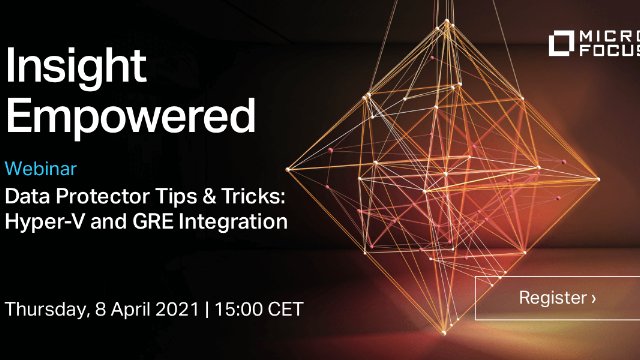 Data Protector Tips and Tricks: Hyper-V and GRE Integration