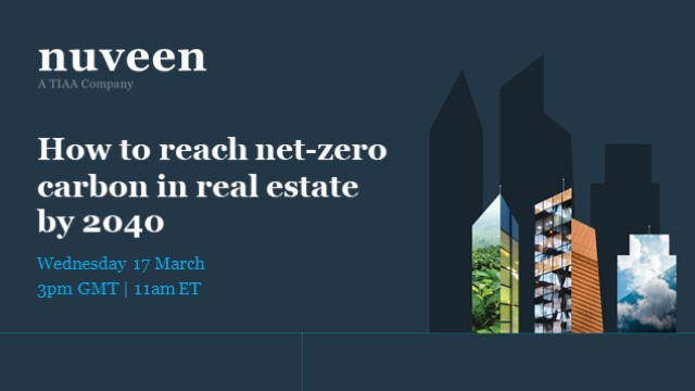 How to reach net-zero carbon in real estate by 2040