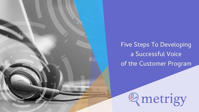Five Steps To Developing a Successful Voice of the Customer Program