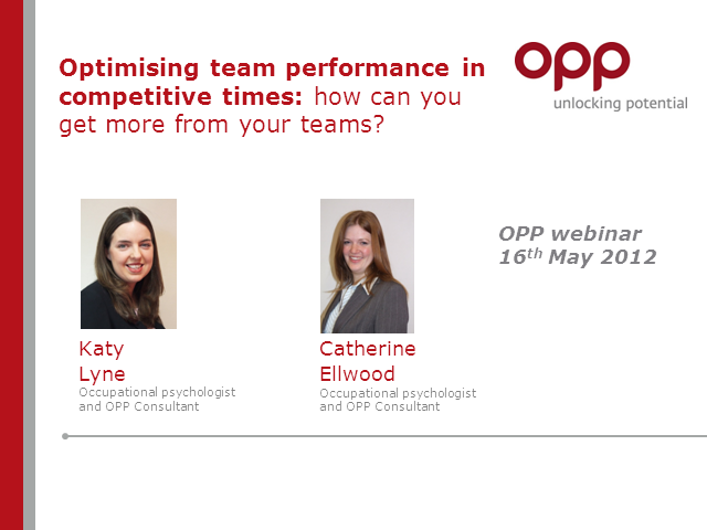 Optimising team performance in competitive times: get more from your teams