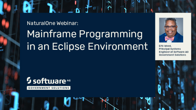 NaturalOne Webinar: Mainframe Programming in an Eclipse Environment