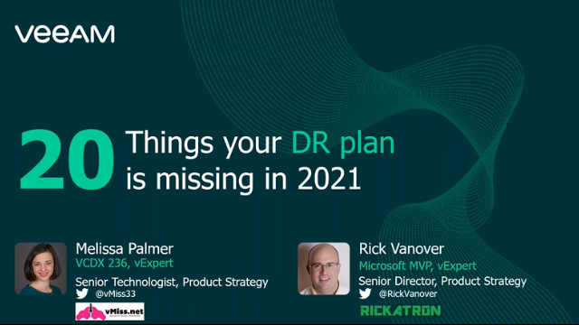 20 Things your DR plan is missing in 2021