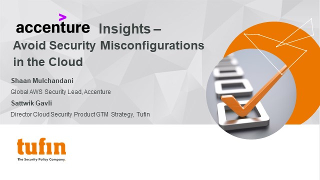 Accenture Insights – Avoid Security Misconfigurations in the Cloud