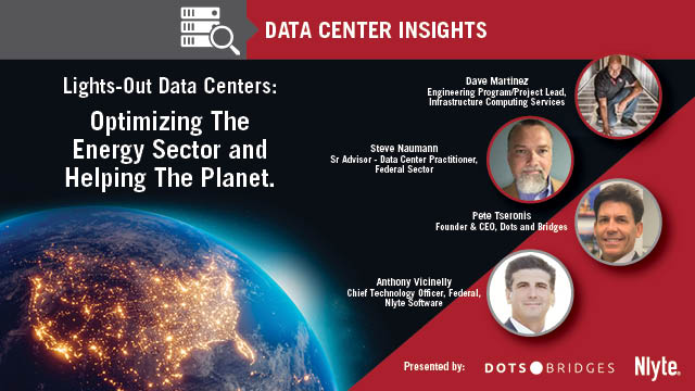 Lights-Out Data Centers: Optimizing The Energy Sector and Helping The Planet
