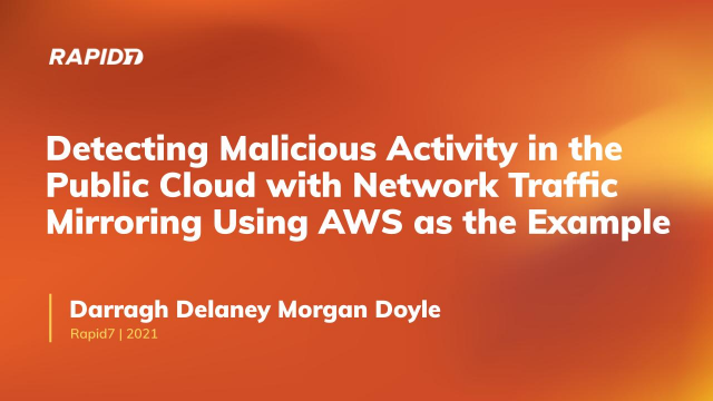 Network Traffic Visibility in the Cloud