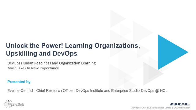 Unlock the Power! Learning Organizations, Upskilling and DevOps
