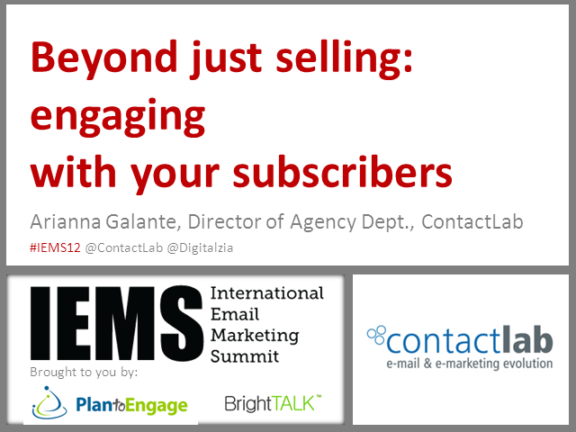 Beyond Just Selling: Engaging With Your Subscribers