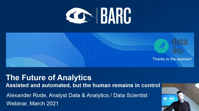 The Future of Analytics – A Study by BARC