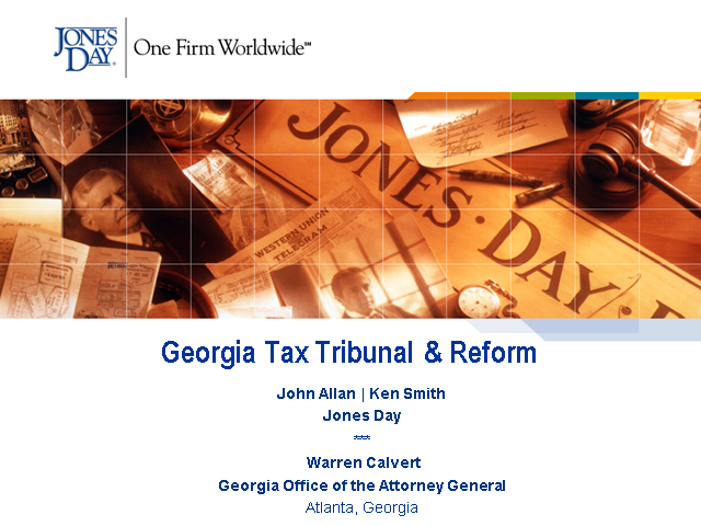 Jones Day State & Local Tax Georgia Tax Tribunal