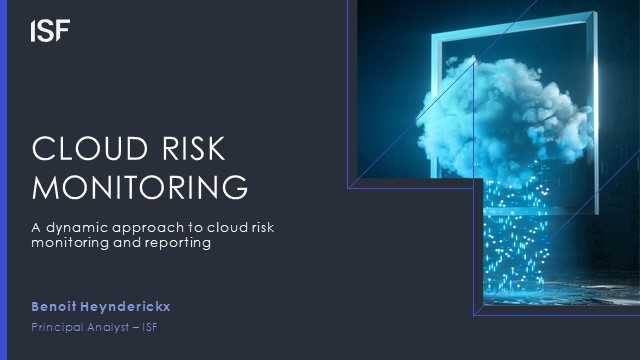 Cloud Security – a dynamic approach to cloud risk monitoring and reporting