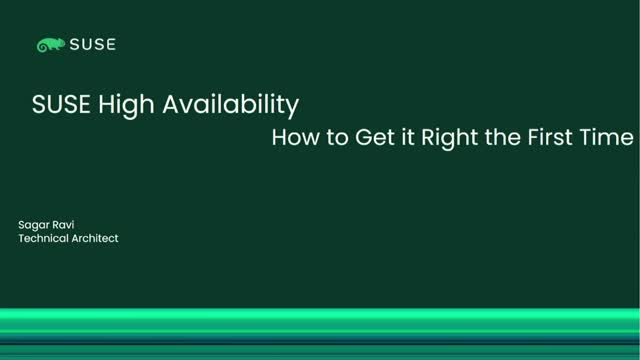 SAP High Availability: How to Get it Right the First Time