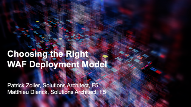 Choosing the Right WAF Deployment Model