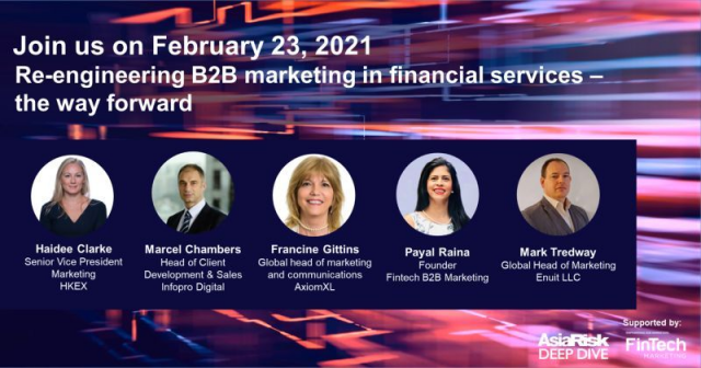 Re-engineering B2B marketing in financial services – the way forward
