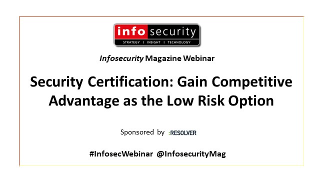 Security Certification: Gain Competitive Advantage as the Low Risk Option