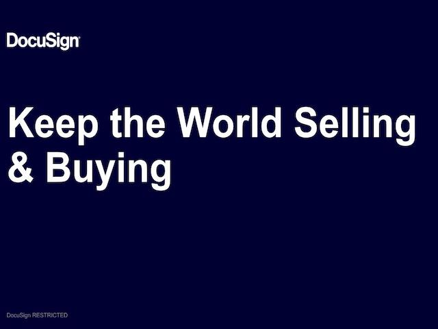Keep The World Selling & Buying