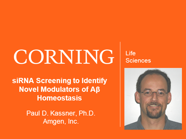 siRNA Screening to Identify Novel Modulators of Aβ Homeostasis