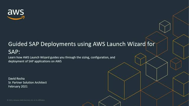 Guided SAP Deployments using AWS Launch Wizard for SAP