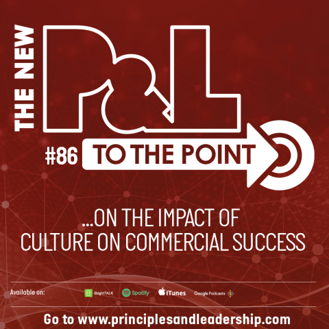 The New P&L TO THE POINT on the Impact of Culture on Commercial Success