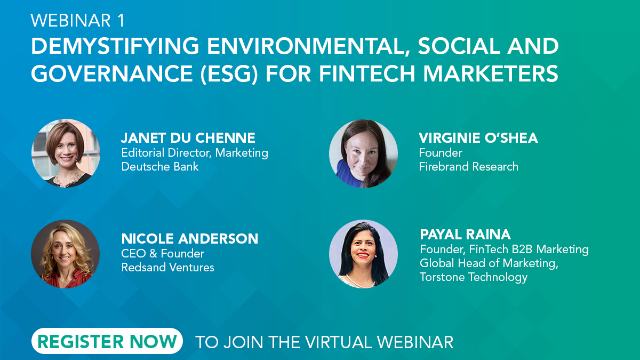DEMYSTIFYING ENVIRONMENTAL, SOCIAL AND GOVERNANCE (ESG) FOR FINTECH MARKETERS