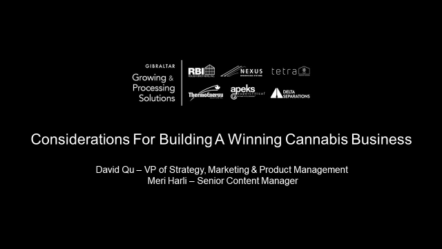 Considerations For Building A Winning Cannabis Business