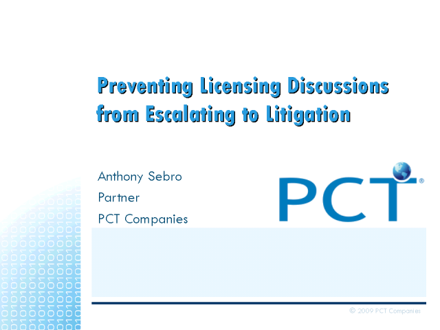 Preventing Licensing Discussions from Escalating to Litigation