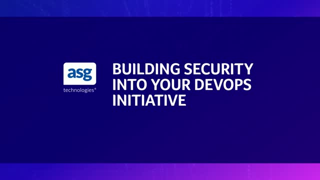 Building Security Into Your DevOps Initiative