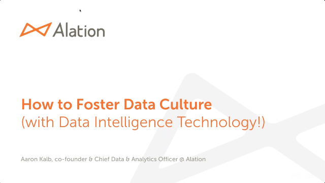 How to Foster Data Culture (with Data Intelligence Technology!)