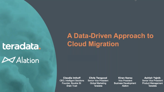 A Data-Driven Approach to Cloud Migration