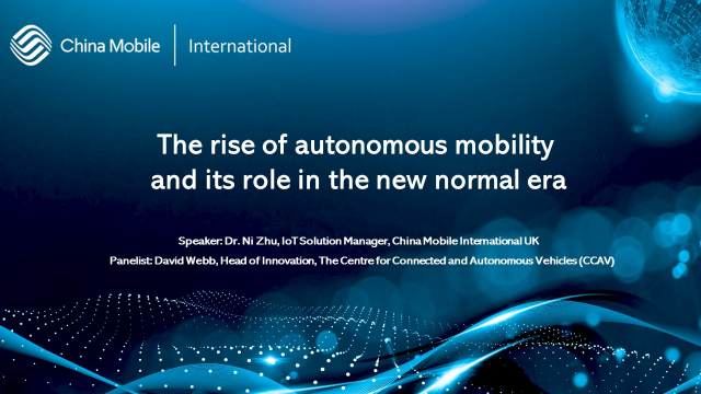 The rise of autonomous mobility and its role in the new normal era