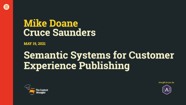 Semantic Systems for Customer Experience Publishing