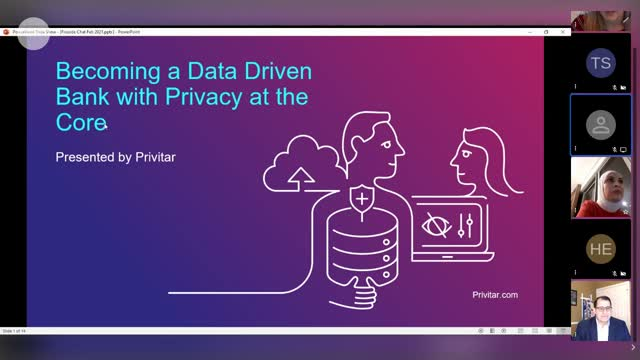 Becoming a Data-Driven Bank with Privacy at the Core
