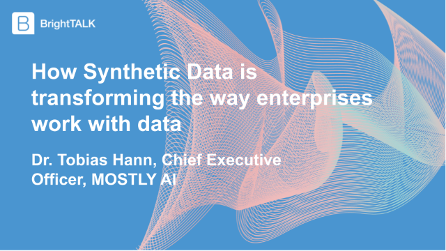 How Synthetic Data is transforming the way enterprises work with data