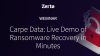 Carpe Data: Ransomware Recovery in Minutes (Product Demo)