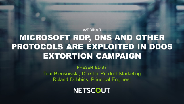Microsoft RDP, DNS and Other Protocols are Exploited in DDoS Extortion Campaign