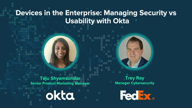 Devices in the Enterprise: Managing Security vs Usability