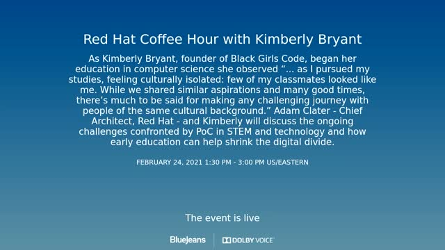 Red Hat Coffee Hour - Kimberly Bryant