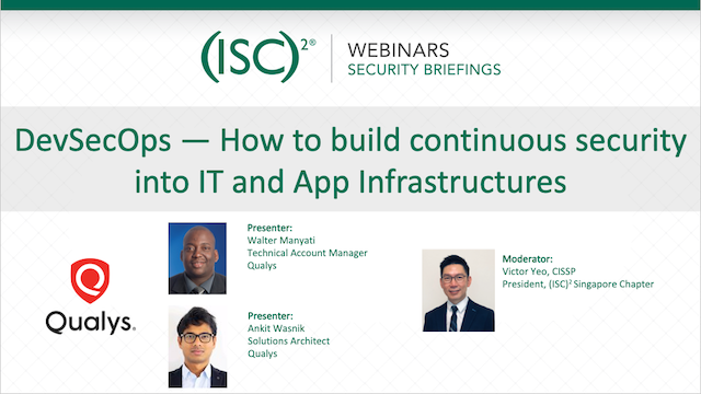 DevSecOps — How to build continuous security into IT and App Infrastructures